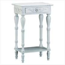 Carved White Side Table - $82.99