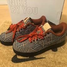 Pendleton Nike Sneaker Shose Air Force 1 By You Plaid Brown Tone Us 9 Men's New - $356.00
