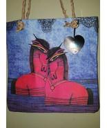 ALBENA Blue Horse Art Wear Canvas Tote Handbag ... - $16.99