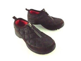 Lands End Black Quilted Zip Up Walking Shoes Womens 7B - $29.69