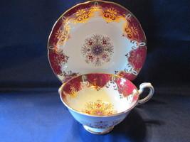 Vintage Paragon English Bone China Cup & Saucer - Pennsylvania Dutch Pattern - $24.99