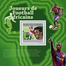 African Soccer Football Players Sport Souvenir Sheet Mint NH - $15.38