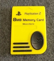 Nyko Yellow 8MB MagicGate Memory Card Sony Playstation 2 PS2 Free Shipping - $7.87