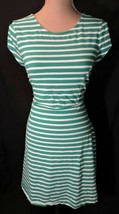 NWOT Old Navy dress LARGE Kelly Green White Stripe SOFT light weight NEW... - $17.05