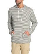 Onia Michael Micro Stripe Print Pullover Hoodie Mens XL Green White MCS5... - $25.25