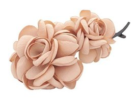 Elegant Artificial Flower Hair Clip Banana Twist Vertical Barrette Ponyt... - $14.37