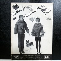 Vtg Clothes for Fashion Model Dolls Knitting Book 1963 Styled by Kilde - $15.99