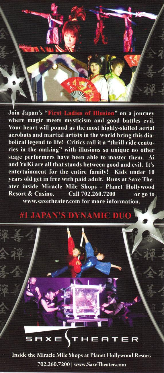 ZEN MAGIC Ai & Yuki Aerial Acrobats Promo Card