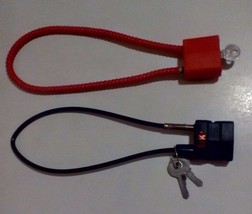 Factory HK H&K USP Pistol Safty Gun Lock Cable & A Extra Gun Cable Red N... - $17.30