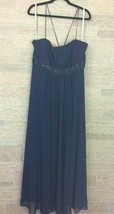 David's Bridal Navy Blue Maxi Dress F12495 Plus Size 20 Spaghetti Strap ... - $49.49