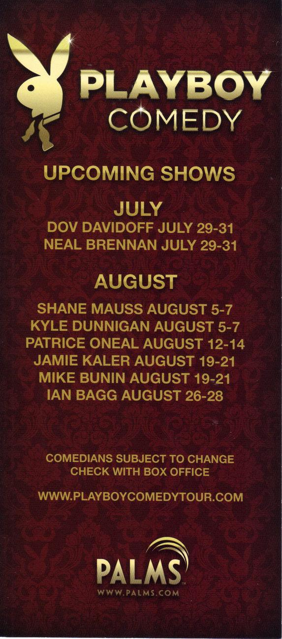 MATT BRAUNGER NICK CANNON @ Playboy Comedy PALMS Las Vegas Promo Card