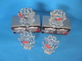 NEW MIKASA  SPARKLING  STAR QQ227/339  VOTIVE GLASS CANDLEHOLDERS SET OF 4 - $18.69