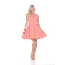 Shay Fit & Flare Dress - Coral - $29.99