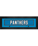 "Carolina Panthers 8x24 ""Team Name"" Stitched Jersey Framed Print - $39.95"