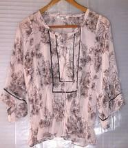 DANIEL RAINN Women's Stitch Fix Floral Tunic Top Drop Waist Bell Sleeve ... - $24.74