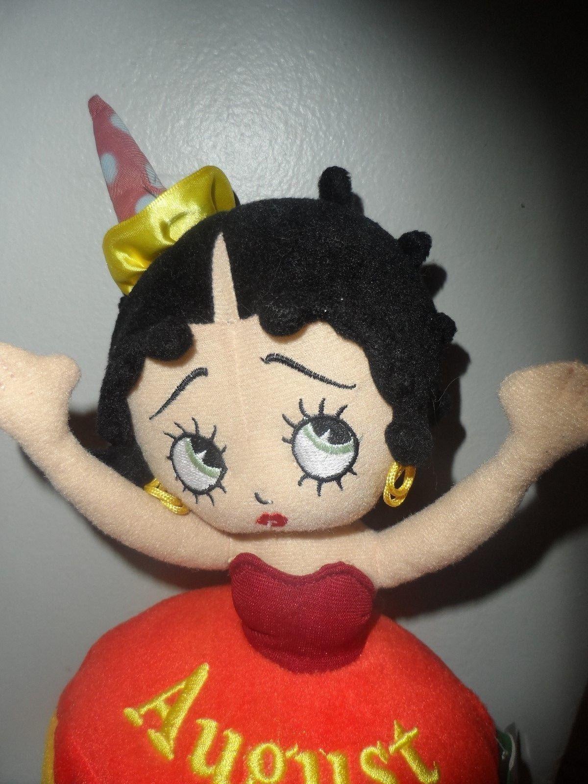 BRAND NEW Betty Boop Birthday Bash August Betty Plush