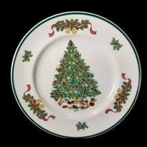 Johnson Brothers Dinner Plates Victorian Christmas Tree Bow Set 6 Staffo... - $87.07
