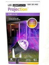 LightShow LED Projection Purple Orange Fire Ice Light Decor Gemmy - $18.99