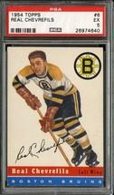 1954 Topps #6 Real Chevrefils Psa 5 Bruins *DS6008 - $39.00