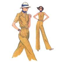 1970s Vintage Vogue Sewing Pattern 9218 Misses V-Neck Jumpsuit Jacket 8/31.5 FF - $9.95