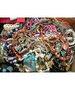 Box Jewelry lot Bits & Pieces Junk Crafts approx. 7+ lbs Parts Repair #12 - $85.00