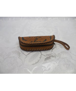 Handmade Thick Brown Leather Coin Purse Heavy Duty Construction - $29.69
