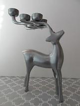 NEW Silver Reindeer Tealight Votive Candle Holder  - $23.76