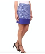 Michael Kors Womens Size 6 Blue White Print Lined Mini Pencil Skirt NWT - $30.21