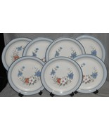 Set (7) Johann Haviland BLUE BOUQUET PATTERN Dinner Plates CROWNING FASHION - $79.19