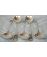 """Oneida Silver Plate Coronation Gumbo Spoon 6 7/8"""" Set of 5 - $22.66"""