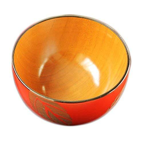 Primary image for Japanese Nail Style Natural Wood Bowl Healthy Baby Rice/SoupBowl(Red Leaf)