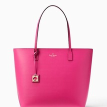 TEST Kate Spade Karla Beech Street Peony Pink Smooth Leather Tote handba... - £179.37 GBP