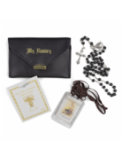 BOY'S FIRST COMMUNION SET WITH LEATHERETTE ROSARY CASE - $37.99