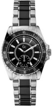 Brand New Guess Collection Gc G29005L3 TWO-TONE Steel Black Silver Womens Watch - £121.62 GBP
