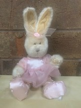 Hugfun Easter Bunny Wearing Pink Bunny Ears Plush Stuffed Animal Toy Cre... - $16.82
