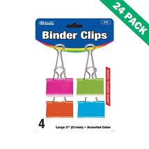 Colorful Binder Clips, 2 Inch Universal Binder Clip Large Capacity - 24 ... - $53.15