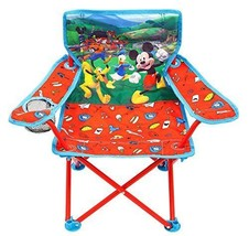 Folding Chair for Kids with Cup Holder Disney Toddler Furniture Sit Outdoor - $23.45+