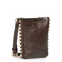 Michael Kors MK Women's Studded Leather Purse Belt Fanny Pack Bag Brown 553359