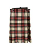 James Dalgliesh Womens Skirt Red Blue Beige Plaid - $98.99