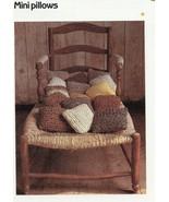 "9"" Mini Pillows Cavendish Crochet PATTERN/Instructions Leaflet NEW - $0.90"