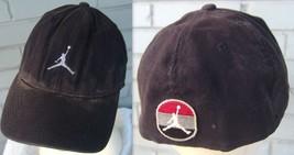 Air Jordan Black Jumpman Destroyed Discolored Distressed Baseball Cap L/XL - $36.76