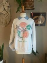 80-90s women's oversized Vintage sweatshirt seashell graphic contrast co... - $22.72