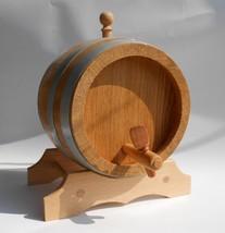 Wooden Wine Barrel Keg 3 Liter  0.8 Gallon Handmade European Oak Wood - $69.00