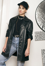 90s vintage leather jacket - $63.71