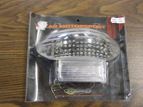 TL012 VOLAR MOTORSPORTS CLEAR LED TAIL LIGHT WITH SIGNALS