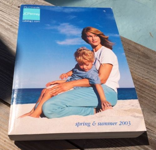VINTAGE 2003 JC PENNY BIG BOOK CATALOG SPRING & SUMMER CLOTHES HOME DECOR LINENS
