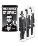 Abraham Lincoln bandages in a tin - $4.95