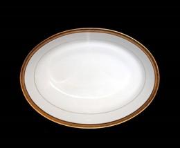 "Noritake KINGSWOOD GOLD Scroll Border Band 9-3/4"" Oval Serving Dish Unus... - €50,01 EUR"