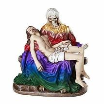 "7"" Santa Muerte Piadosa La Pieta Compassion Of the Holy Death Statue Powers - $39.59"