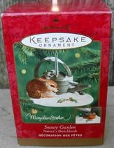 Hallmark 2000 Snowy Garden Marjolein Bastin Nature's Sketchbook Rabbit O... - $12.99